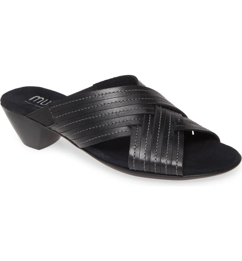 MUNRO Kelsey Sandal, Main, color, BLACK LEATHER