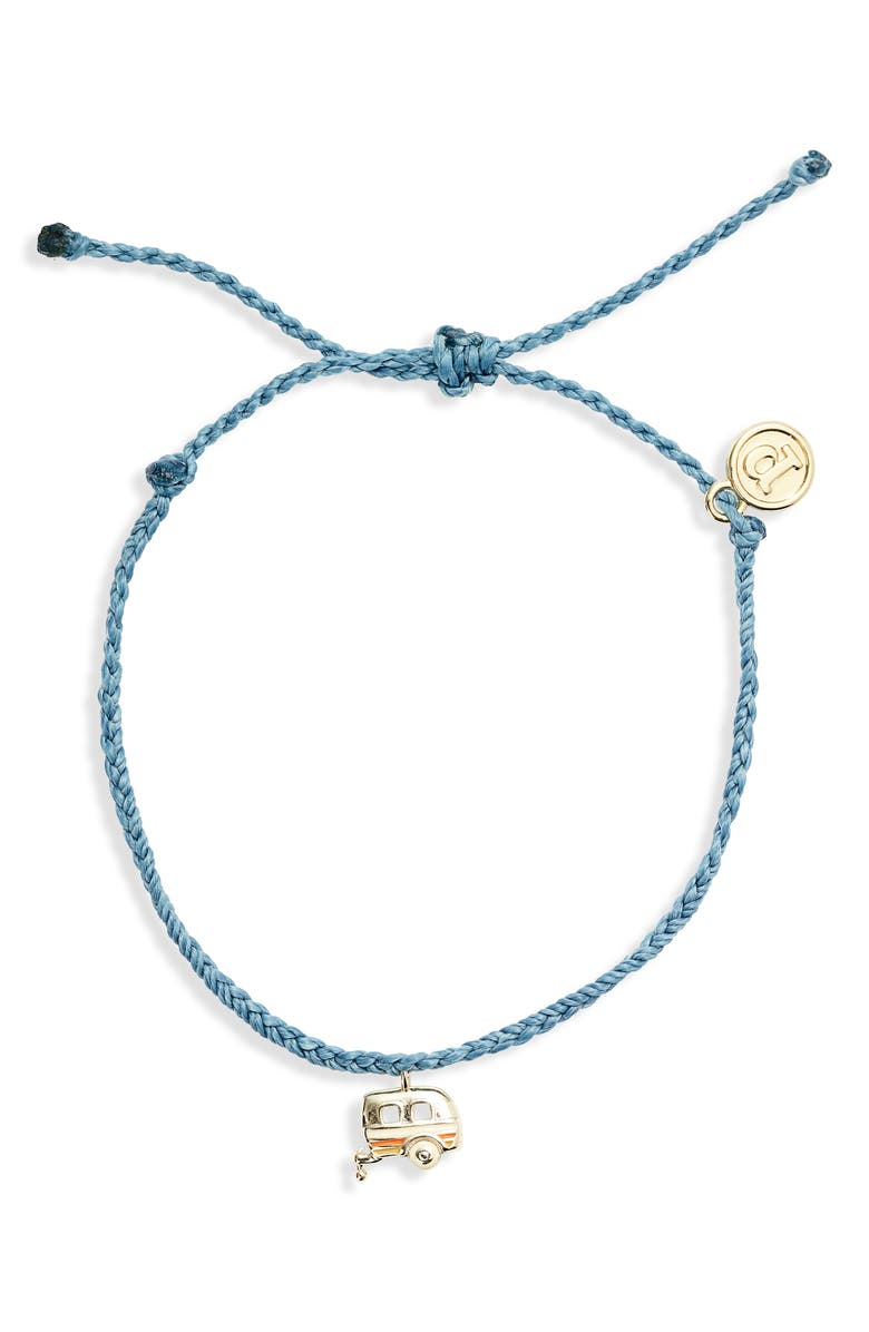 PURA VIDA On the Road Charm Bracelet, Main, color, DUSTY BLUE