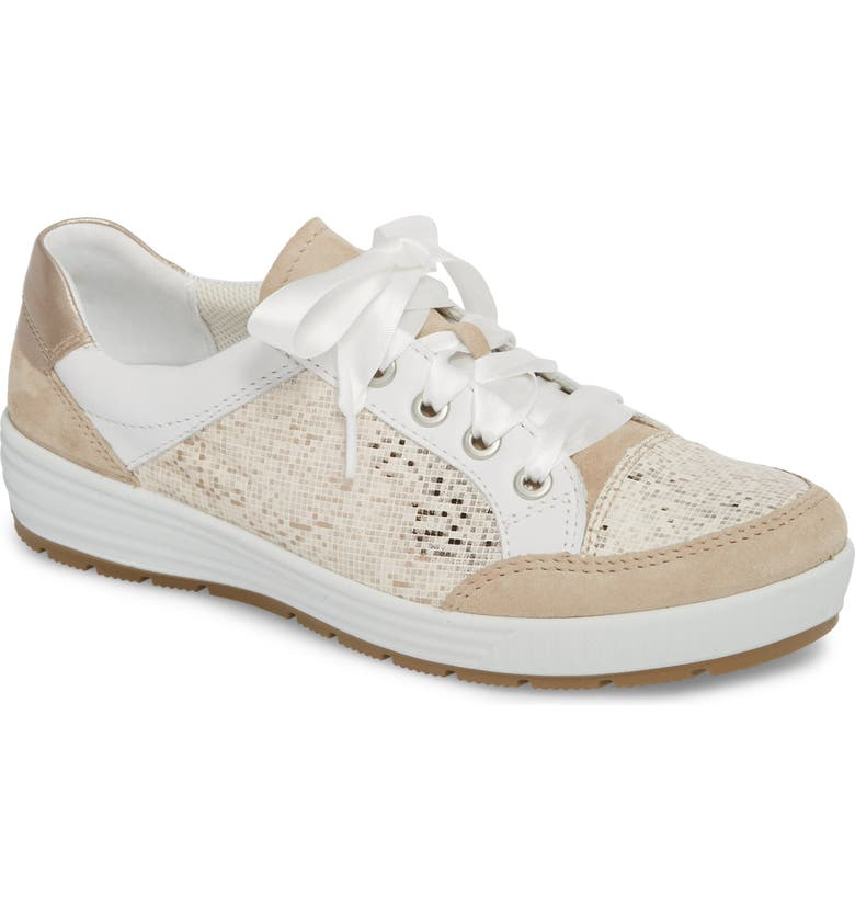 ARA Nicole Sneaker, Main, color, BEIGE/ TAUPE LEATHER