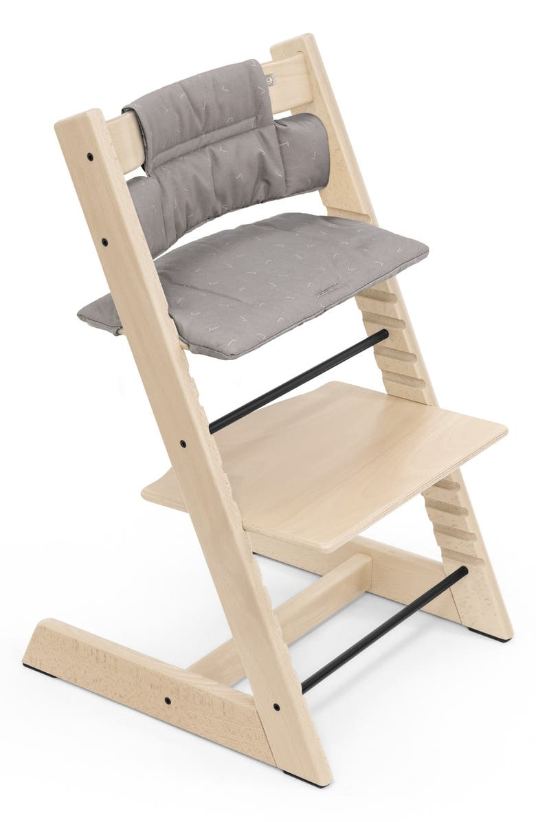STOKKE Tripp Trapp<sup>®</sup> Classic Seat Cushions, Main, color, GREY DOTS