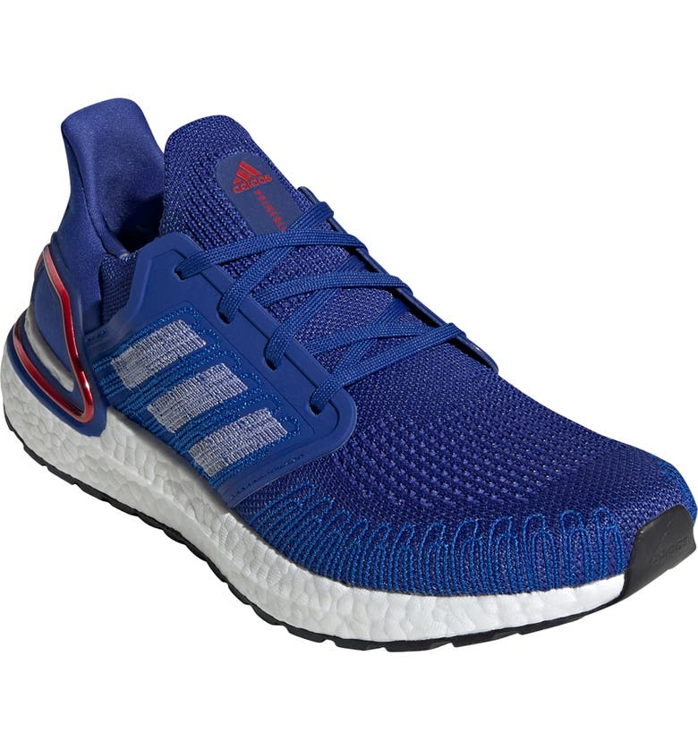 ADIDAS UltraBoost 20 Running Shoe, Main, color, ROYAL BLUE/ WHITE/ SCARLET