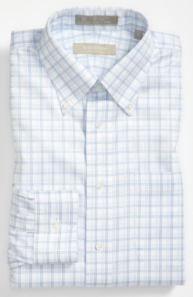 NORDSTROM Smartcare<sup>™</sup> Traditional Fit Dress Shirt, Main, color, 400
