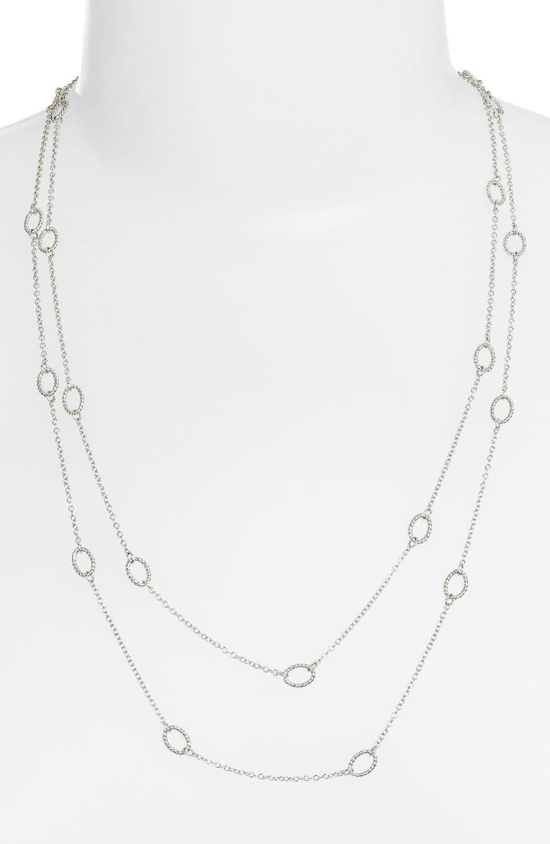 NORDSTROM 'Layers of Love' Extra Long Station Necklace, Main, color, 040