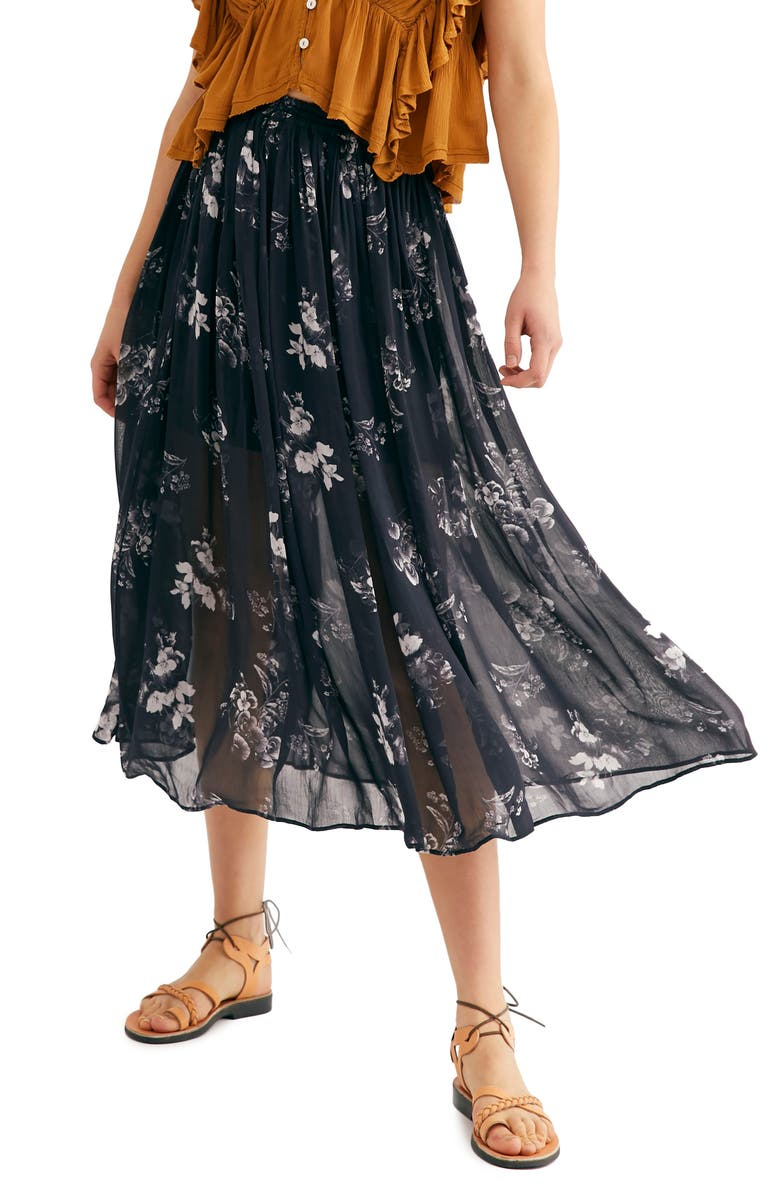FREE PEOPLE Lydia Midi Skirt, Main, color, 004
