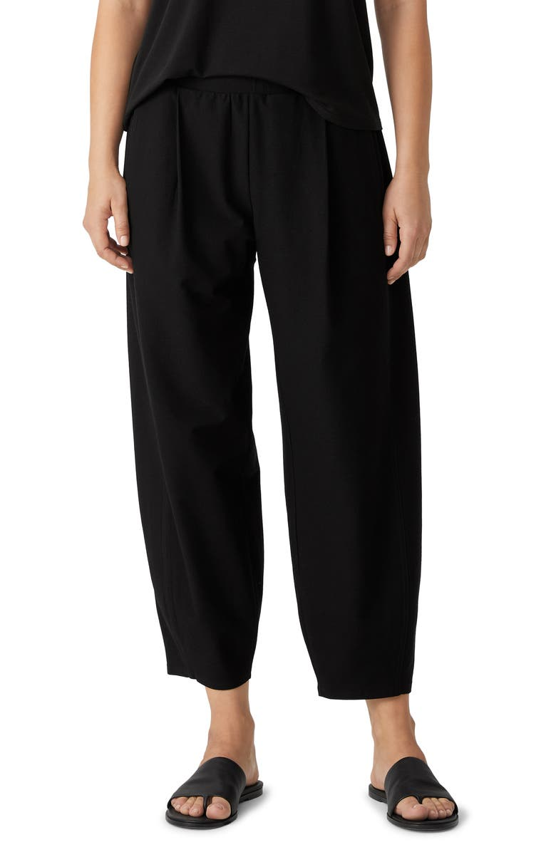 EILEEN FISHER Relaxed Ankle Pants, Main, color, BLACK