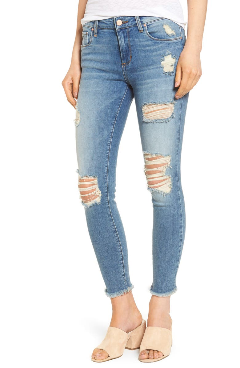 BP. Ripped Crop Skinny Jeans, Main, color, 420
