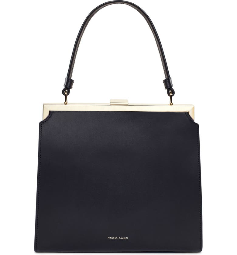 MANSUR GAVRIEL Elegant Leather Bag, Main, color, 001