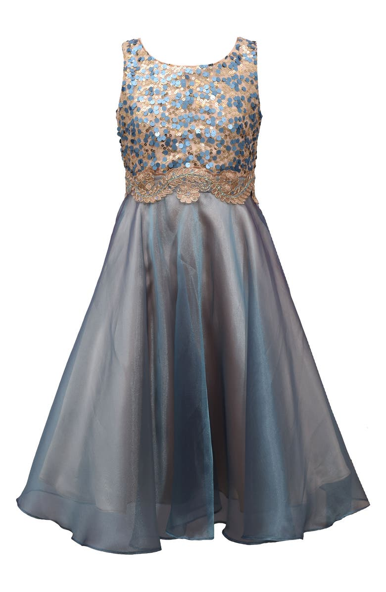 IRIS & IVY Sequin & Organza Party Dress, Main, color, 400
