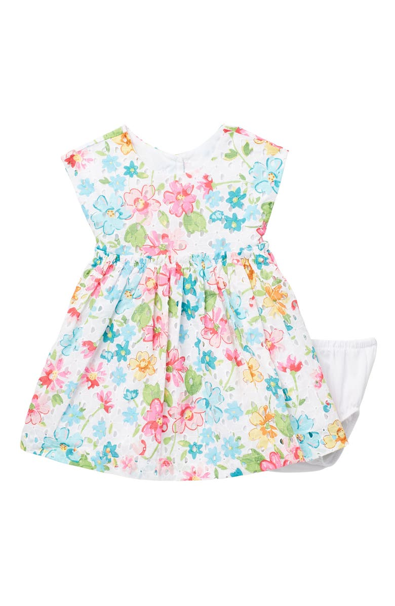 GERSON AND GERSON Eyelet Dress, Main, color, MULTI