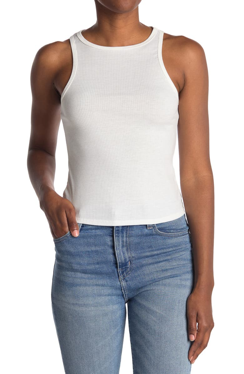 ABOUND Rib Knit Tank, Main, color, WHITE