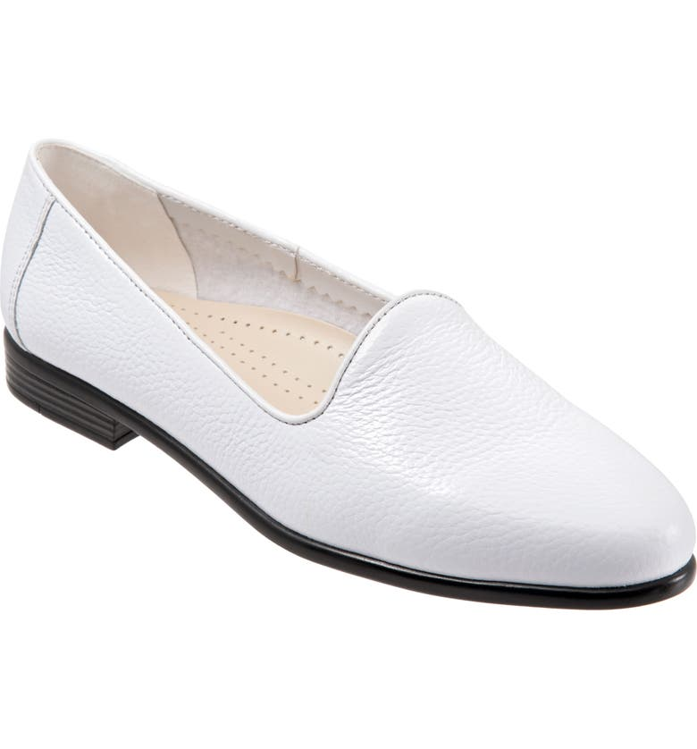 TROTTERS Liz Loafer, Main, color, WHITE/ WHITE LEATHER