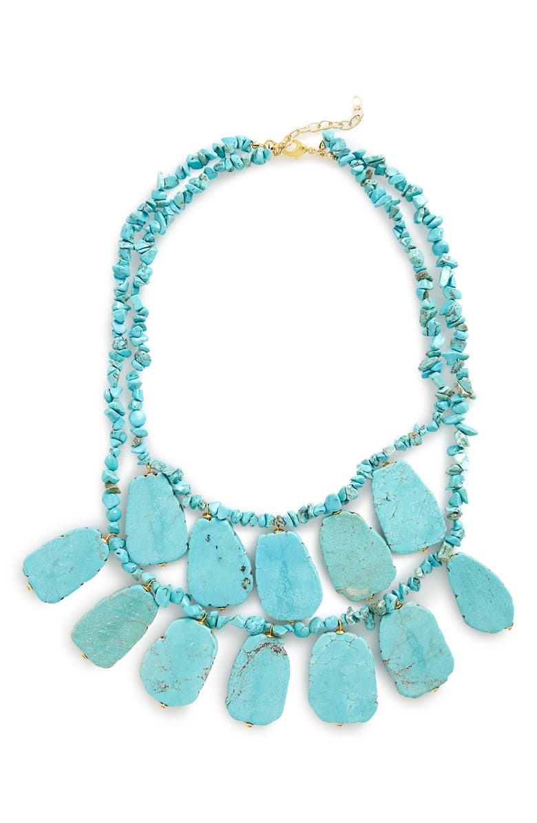PANACEA Turquoise Statement Necklace, Main, color, TURQUOISE