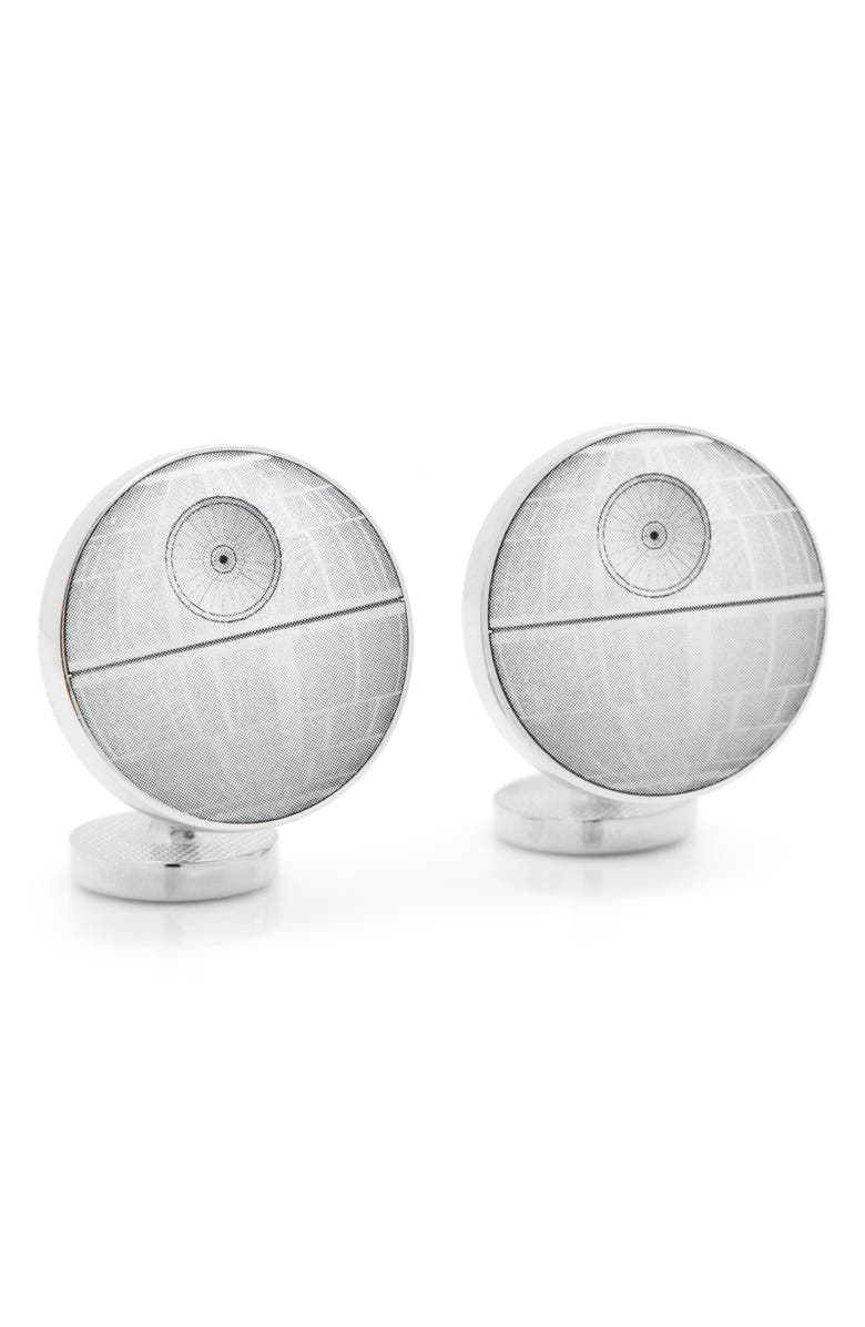 CUFFLINKS, INC. 'Star Wars<sup>™</sup> - Death Star Blueprint' Cuff Links, Main, color, 020