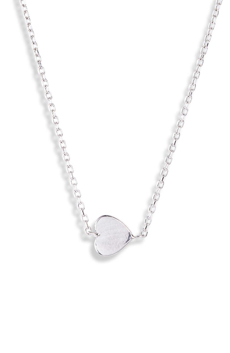 ANZIE Love Letter Typewriter Heart Necklace, Main, color, Silver