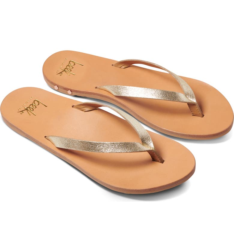BEEK Seabird Flip Flop, Main, color, PLATINUM/ NATURAL