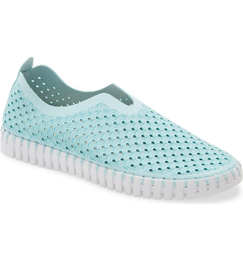 ILSE JACOBSEN Tulip 139 Perforated Slip-On Sneaker, Main, color, SAPPHIRE FABRIC
