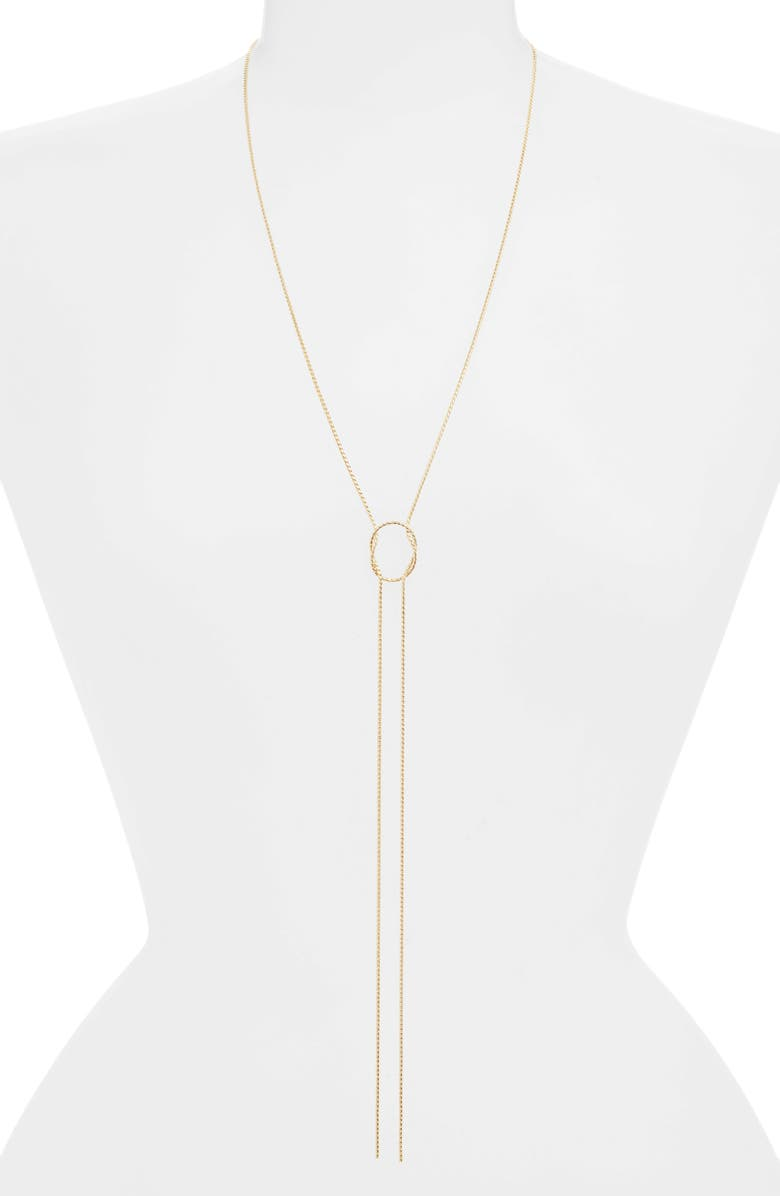 HALOGEN<SUP>®</SUP> Knotted Y-Necklace, Main, color, Gold