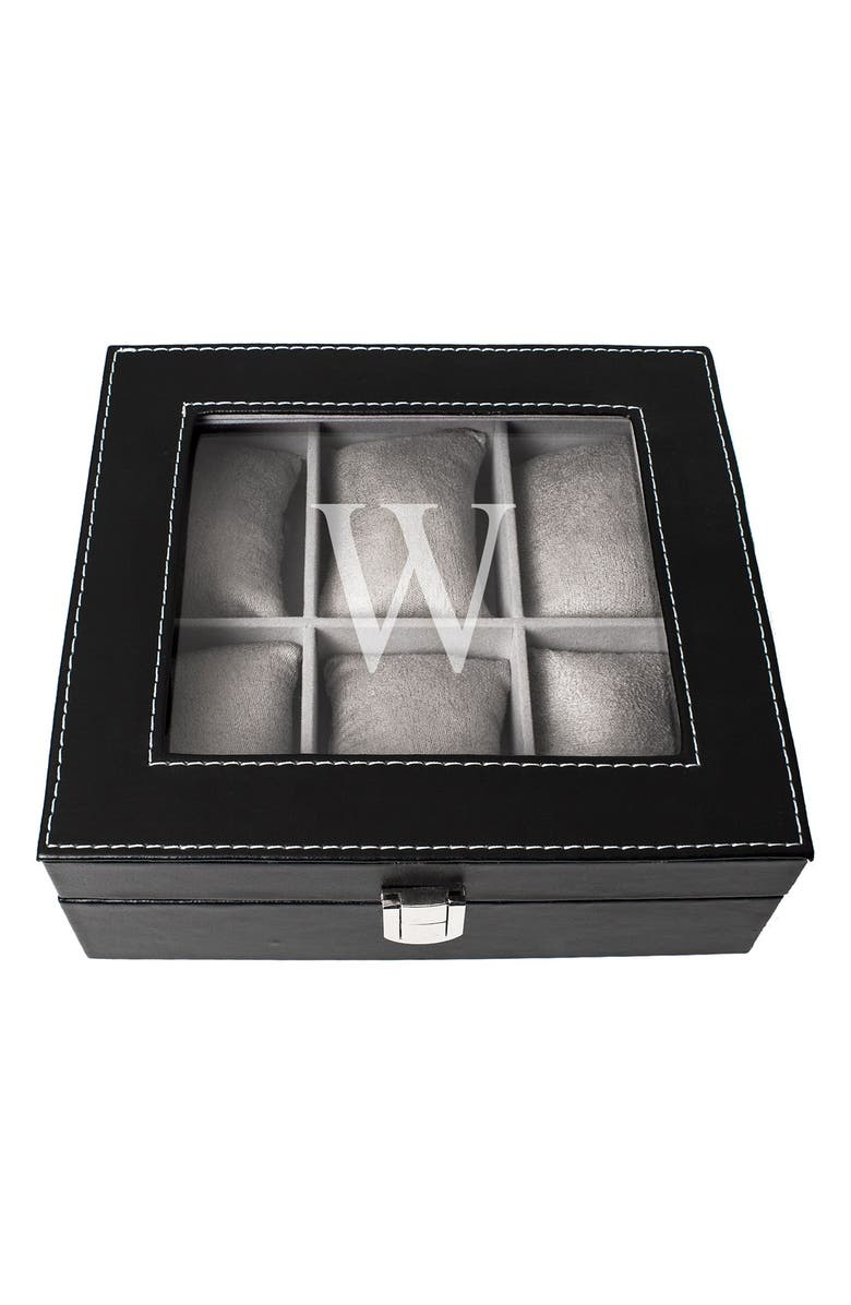 CATHY'S CONCEPTS Monogram Watch Box, Main, color, 024
