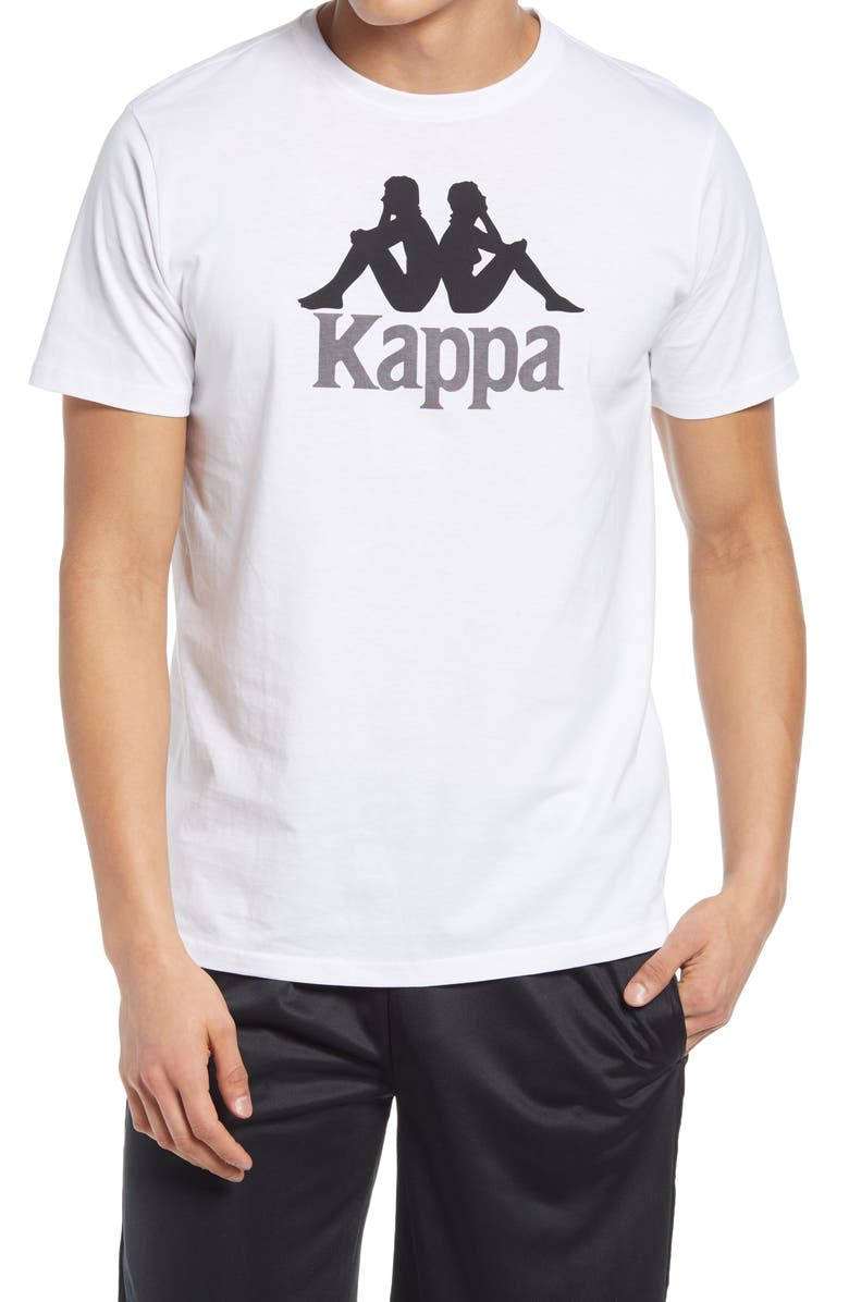 KAPPA Authentic Estessi Graphic Tee, Main, color, WHITE / BLACK / GREY
