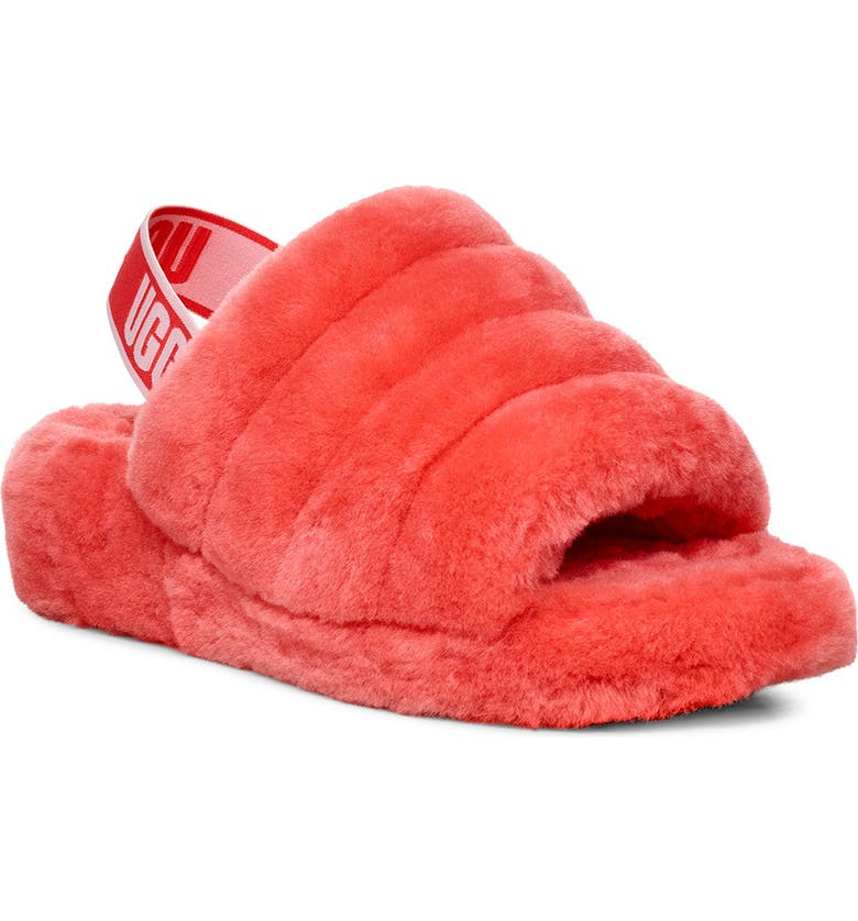 UGG<SUP>®</SUP> Fluff Yeah Genuine Shearling Slide, Main, color, 845