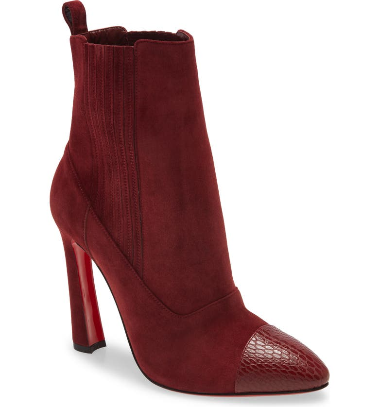CHRISTIAN LOUBOUTIN Me in the '90s Pointy Toe Bootie, Main, color, TANIN
