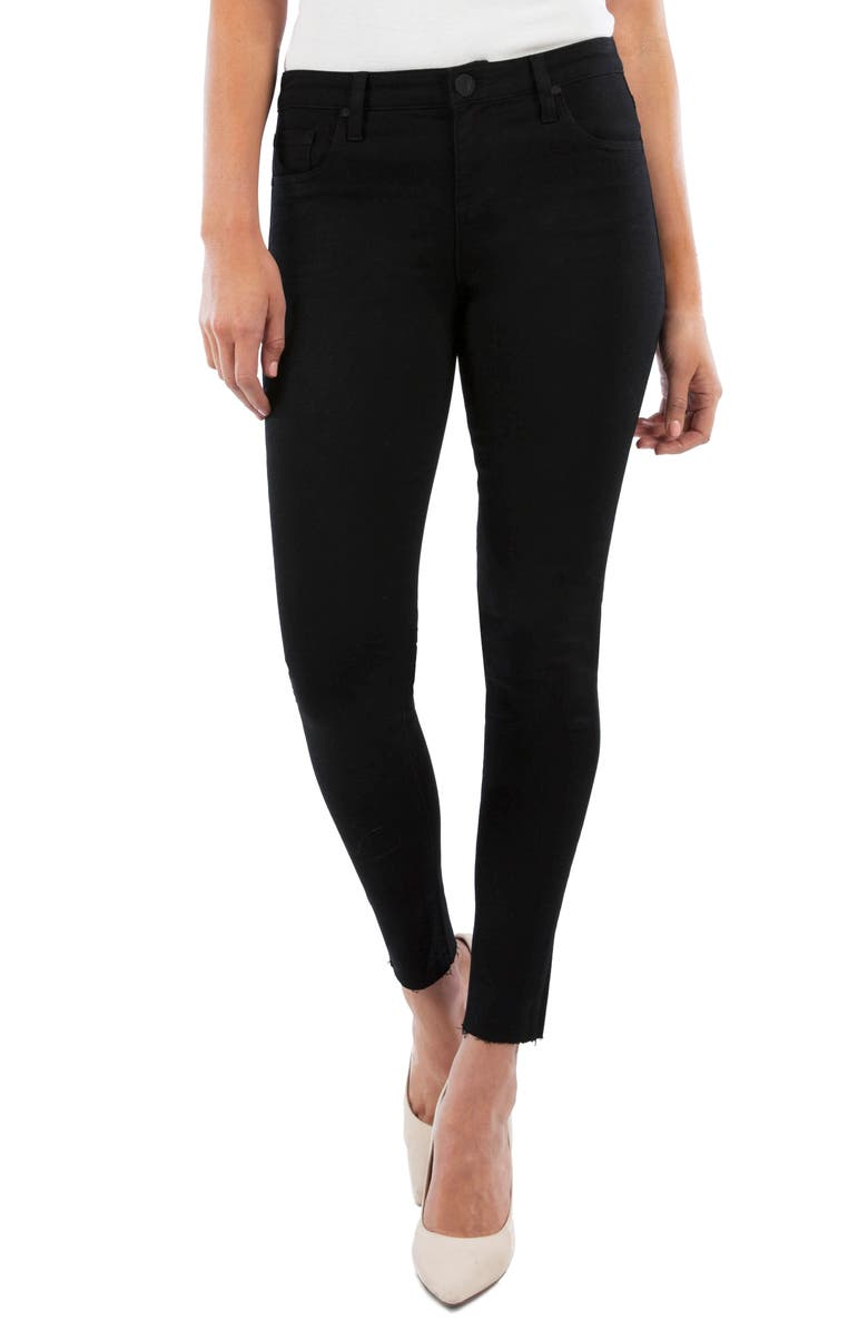 KUT FROM THE KLOTH Donna High Waist Ankle Skinny Jeans, Main, color, BLACK