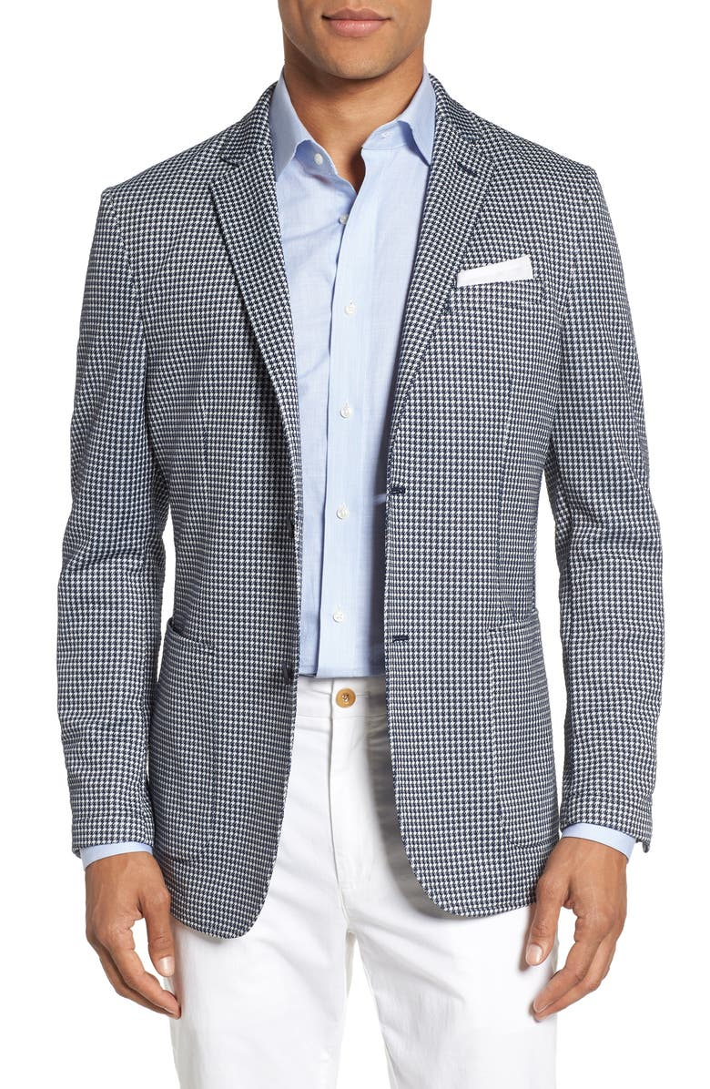 VINCE CAMUTO Slim Fit Stretch Houndstooth Sport Coat, Main, color, 410