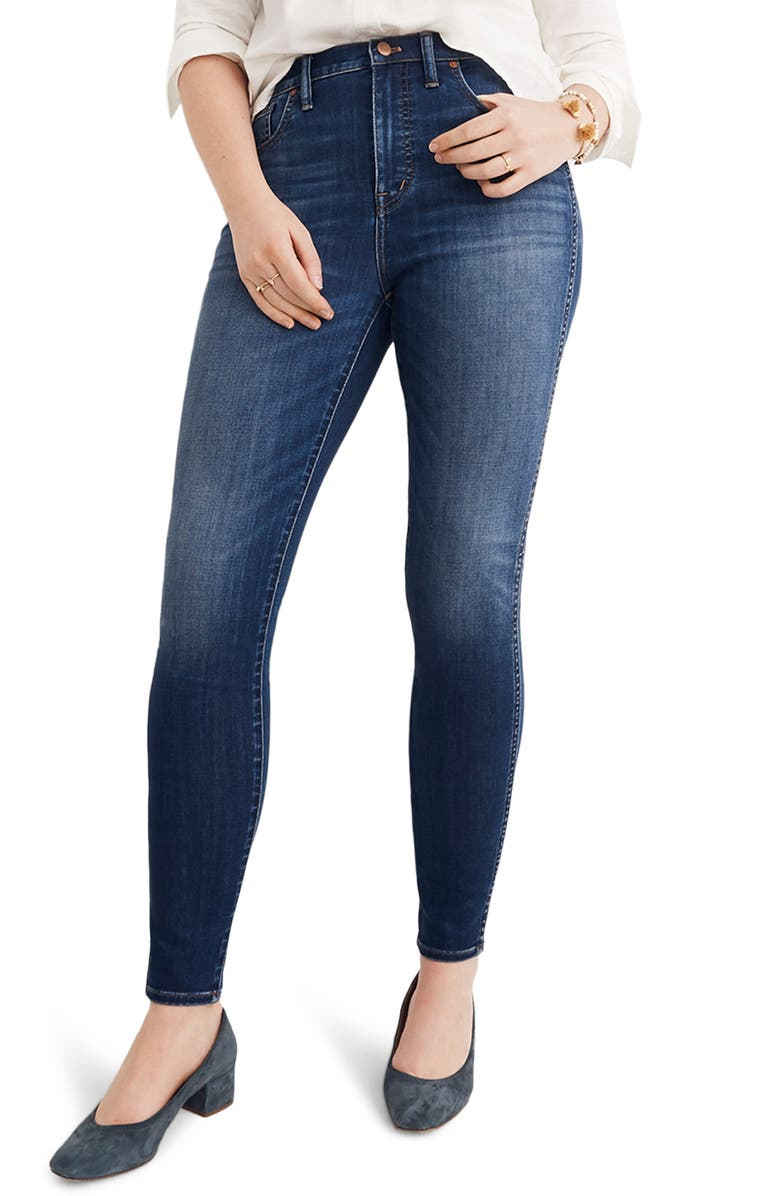 MADEWELL 10-Inch High Rise Skinny Jeans, Main, color, DANNY