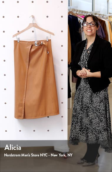 Vega Faux Leather Wrap Skirt, sales video thumbnail
