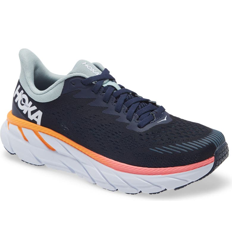 HOKA ONE ONE Clifton 7 Running Shoe, Main, color, BLUE IRIS / BLUE HAZE