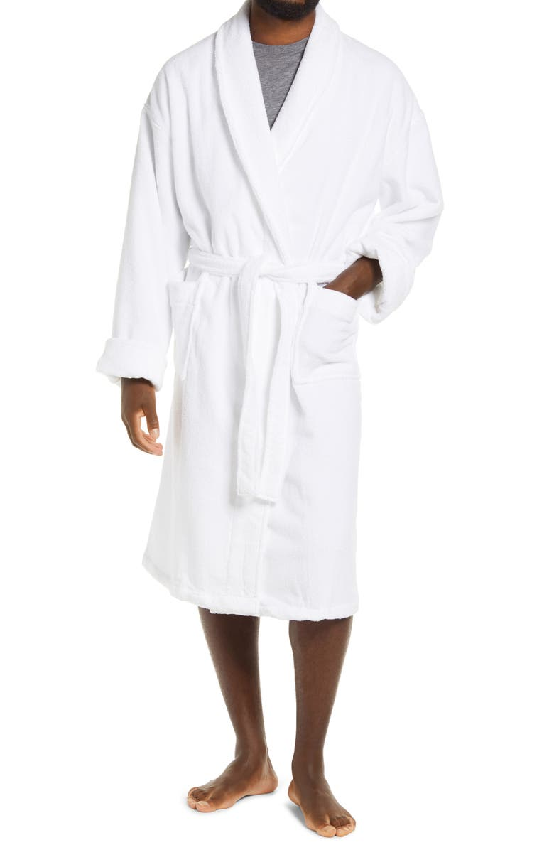 MAJESTIC INTERNATIONAL Earthright Shawl Collar Terry Robe, Main, color, 100