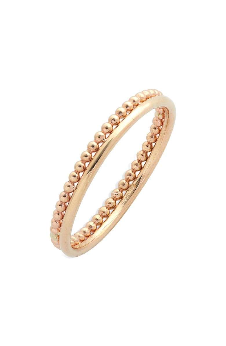 POPPY FINCH Duo 14K Gold Band Ring, Main, color, YELLOW GOLD