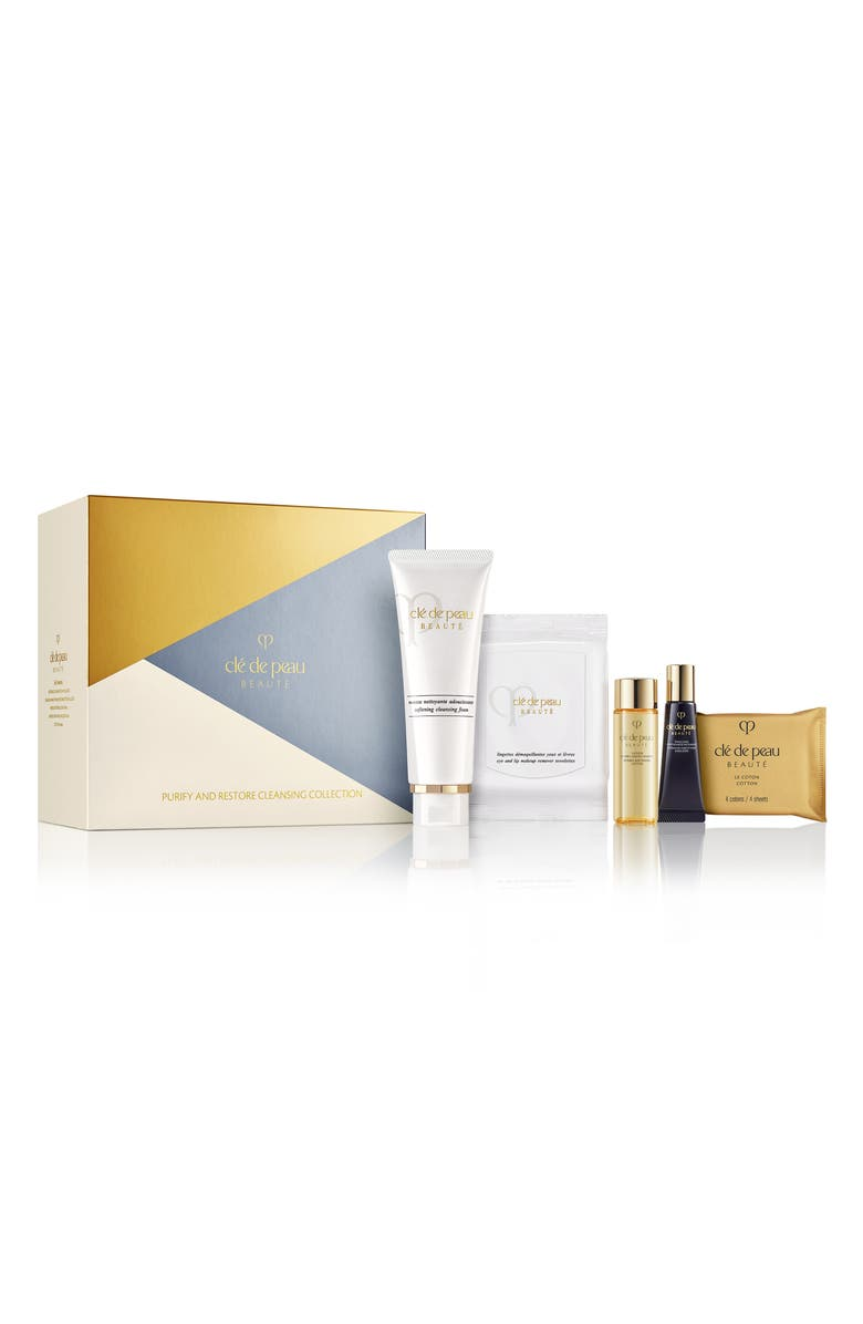 CLÉ DE PEAU BEAUTÉ Purify & Restore Cleansing Set, Main, color, No Color