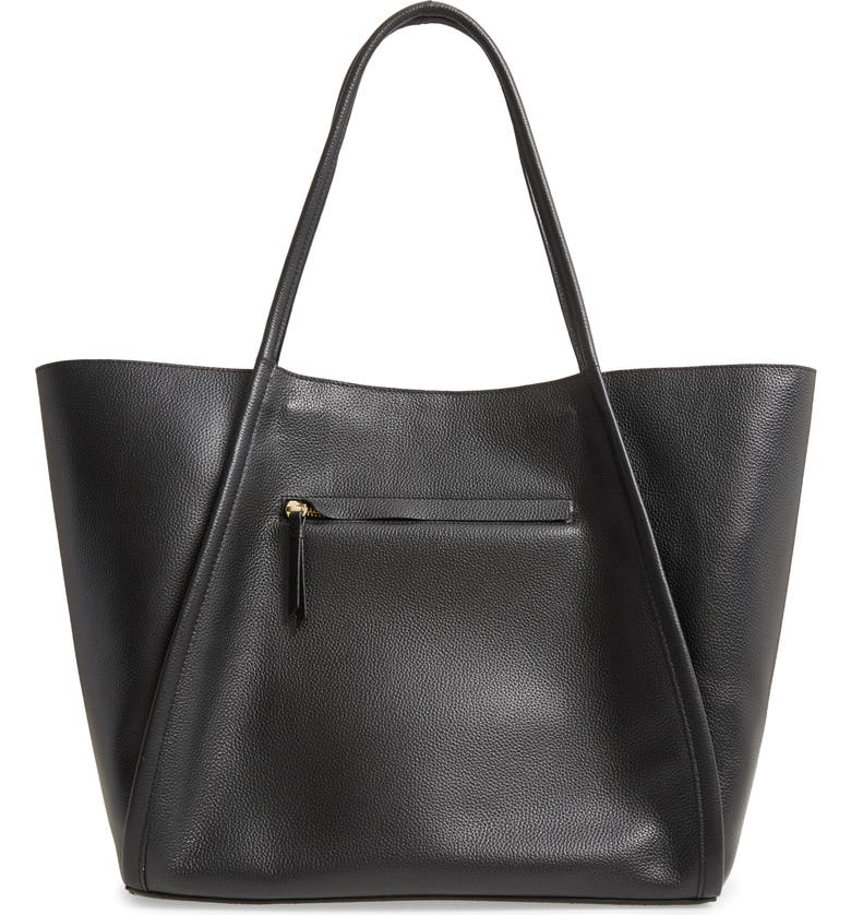 NORDSTROM Mercer Leather Tote, Main, color, 001