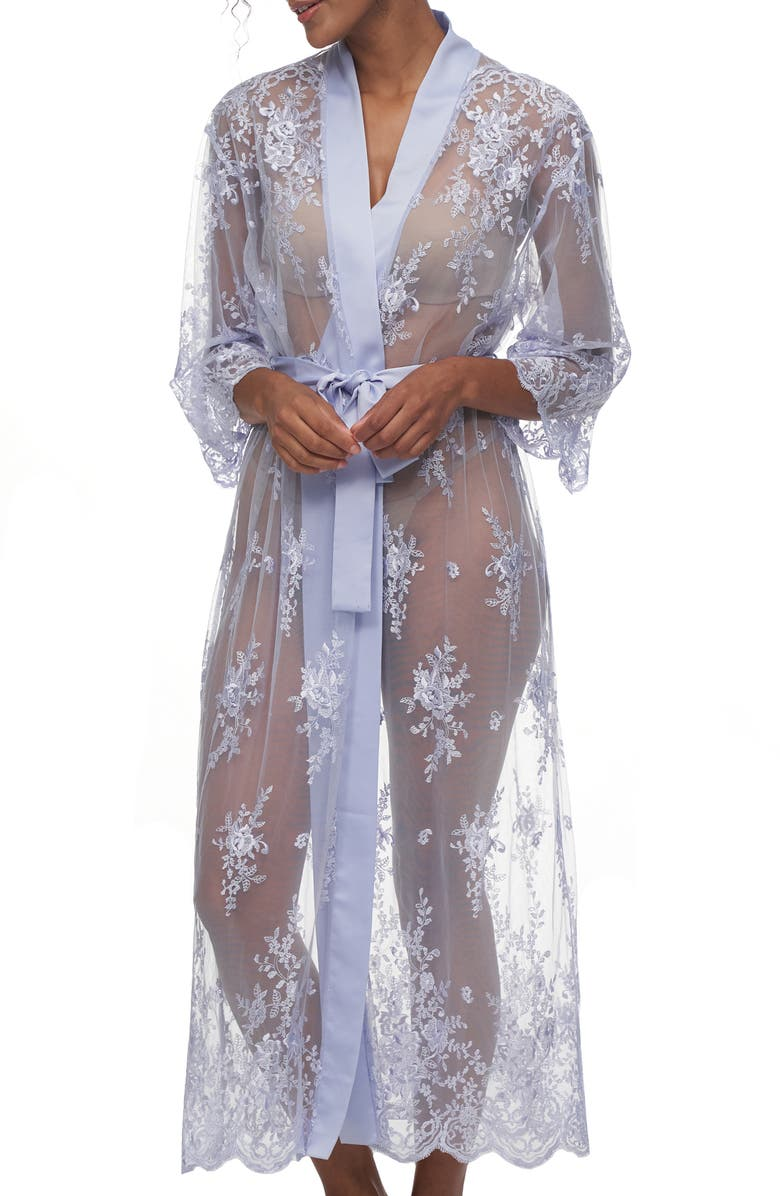 RYA COLLECTION Darling Sheer Lace Robe, Main, color, WISTERIA