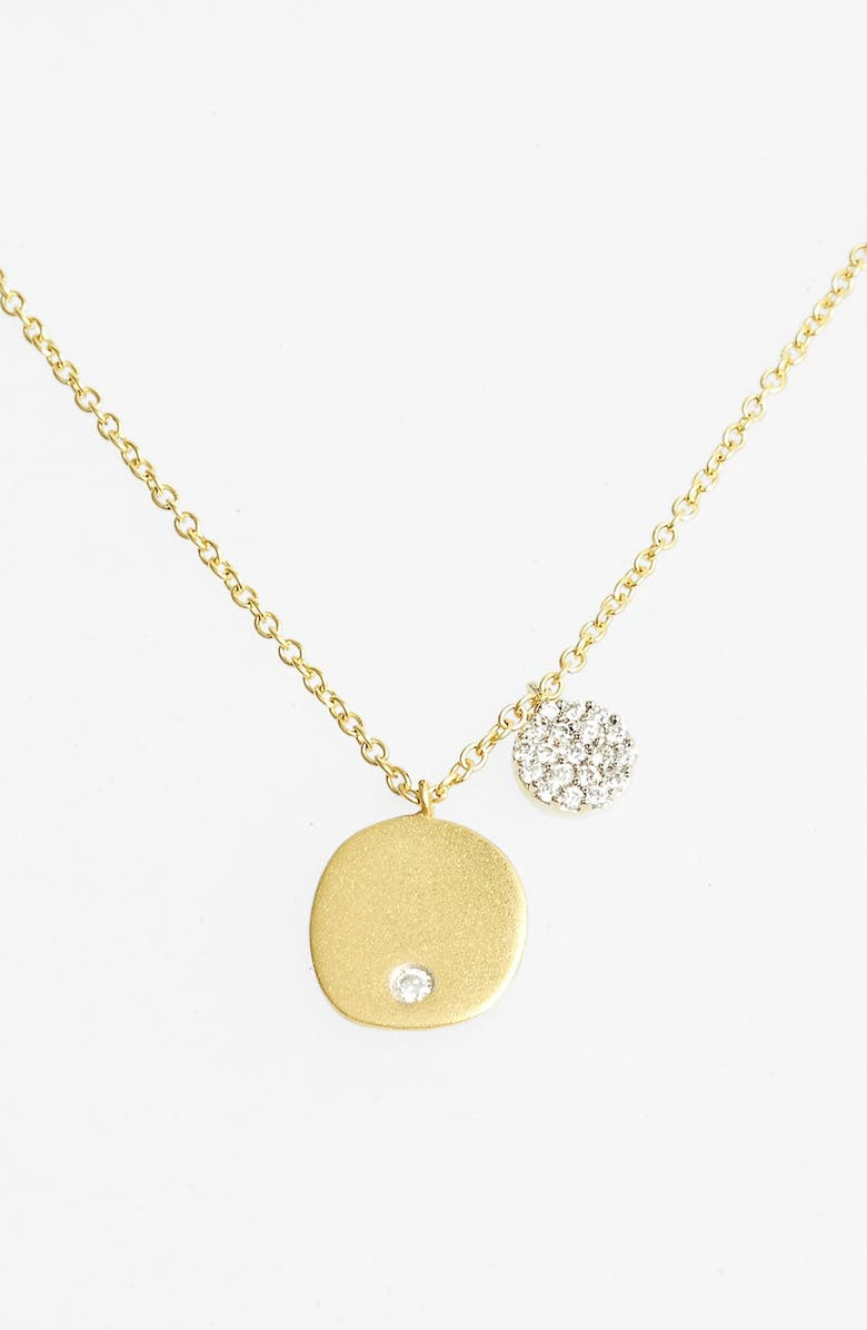 MEIRA T Charmed Diamond Pendant Necklace, Main, color, YELLOW GOLD