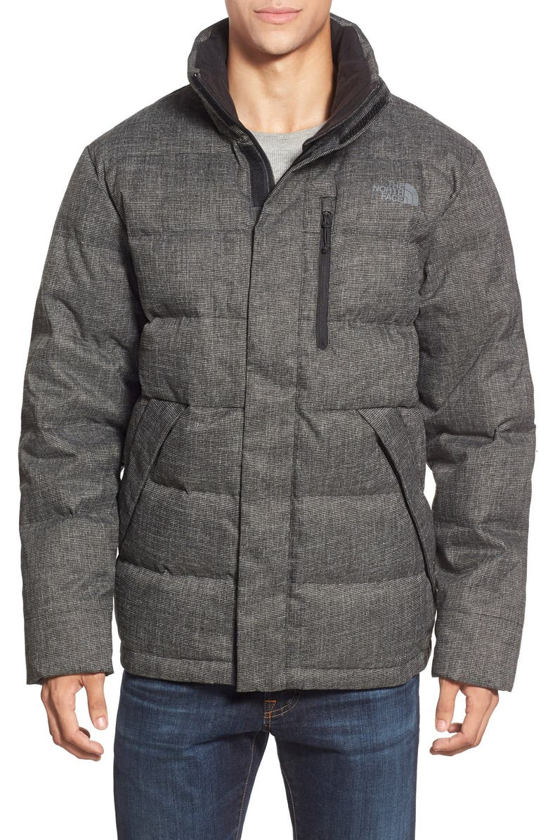 THE NORTH FACE 'Tweed Sumter' Goose Down Jacket, Main, color, 001