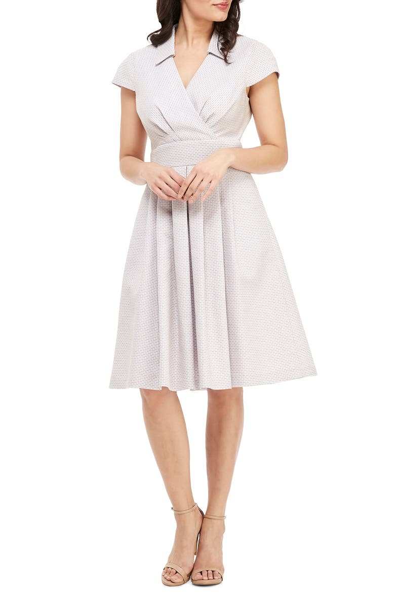 GAL MEETS GLAM COLLECTION Pleated Party Dress, Main, color, 536