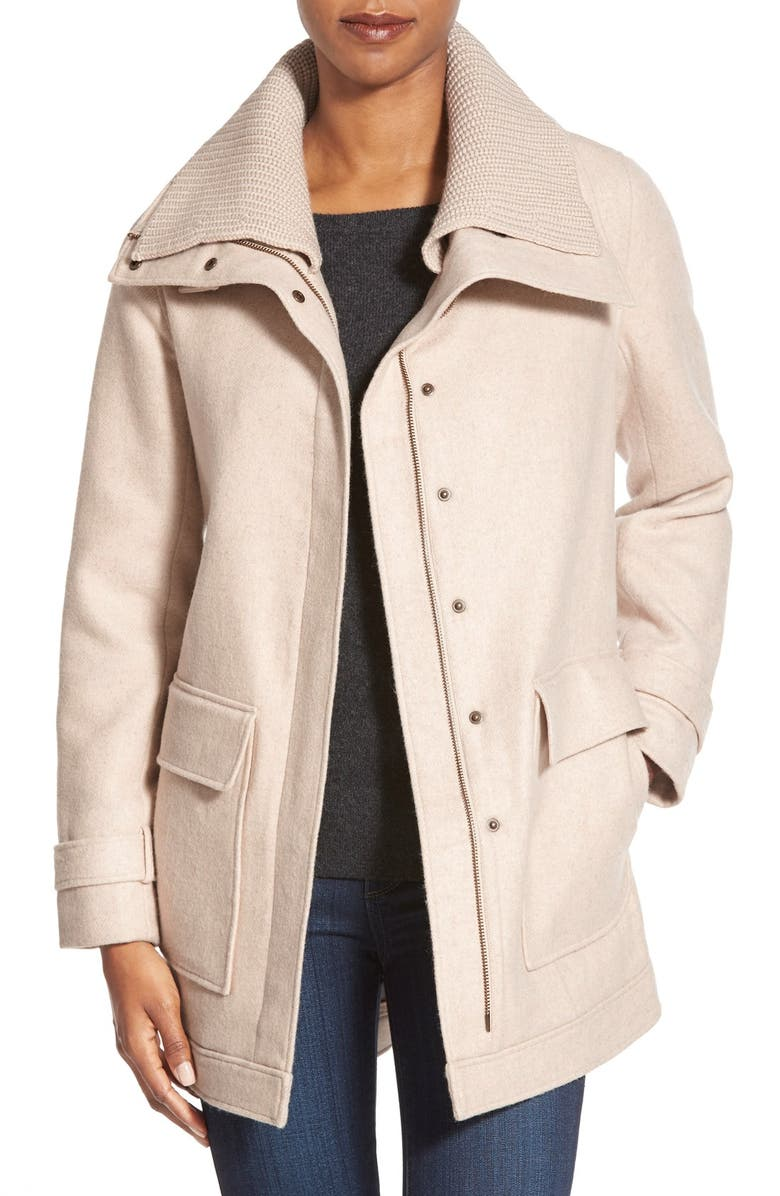 NORDSTROM COLLECTION Double Cloth Wool Blend Jacket, Main, color, 260