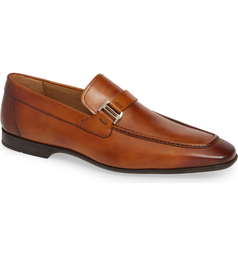 MAGNANNI 'Lino' Loafer, Main, color, BROWN LEATHER