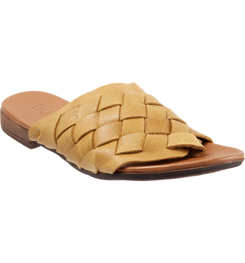 BUENO Tory Woven Slide Sandal, Main, color, YELLOW LEATHER