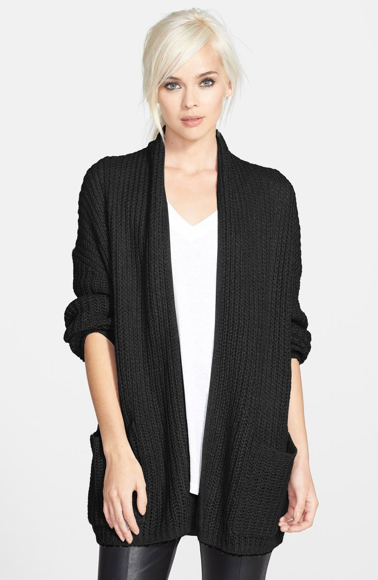 TILDON Open Front Cardigan, Main, color, 001