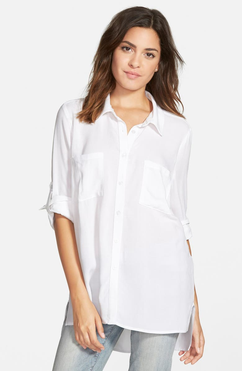ZOE AND ROSE Oversize Shirt, Main, color, White