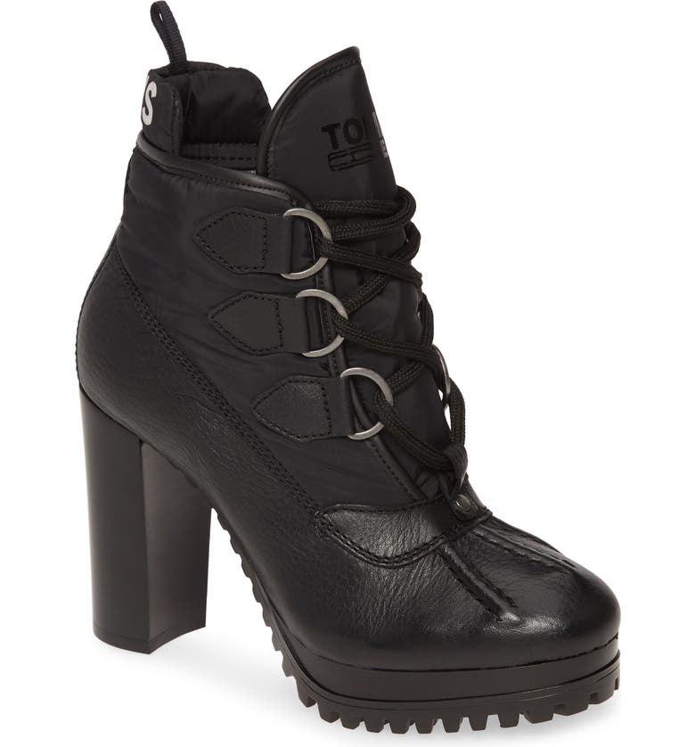 TOMMY JEANS Clarissa Lace-Up Bootie, Main, color, 001