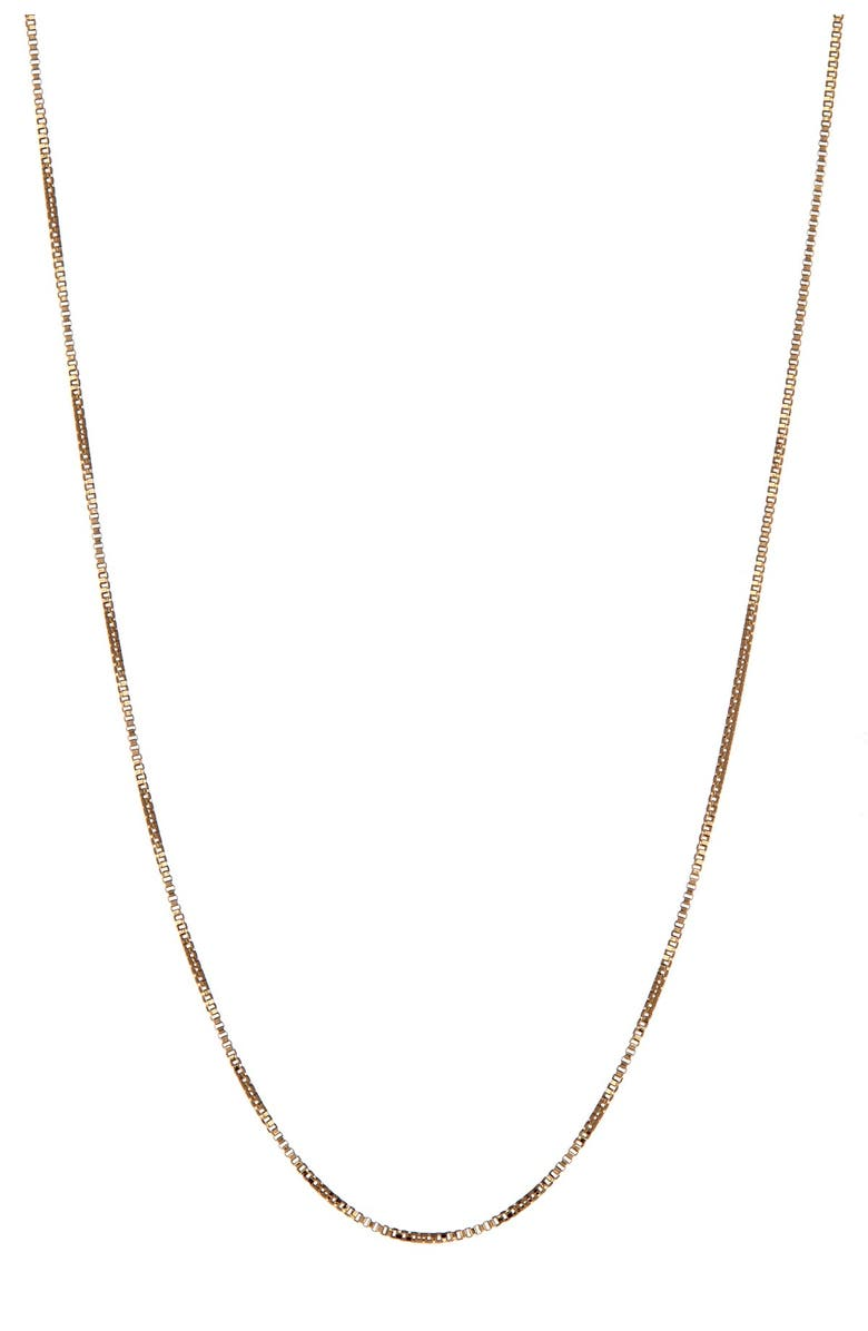 CANDELA JEWELRY 14K Yellow Gold Box Chain Necklace, Main, color, GOLD