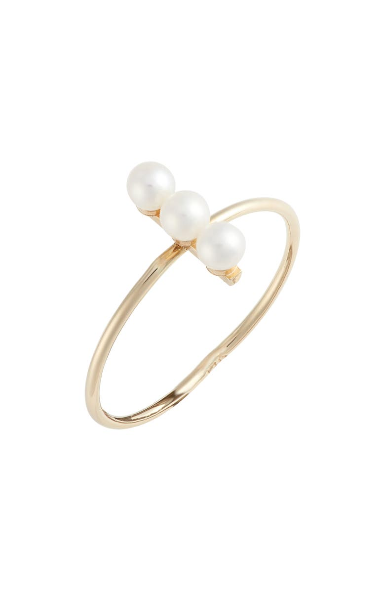 POPPY FINCH Triple Cultured Pearl Bar Ring, Main, color, 710