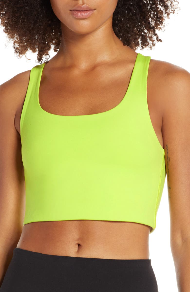 GIRLFRIEND COLLECTIVE Paloma Sports Bra, Main, color, LIME
