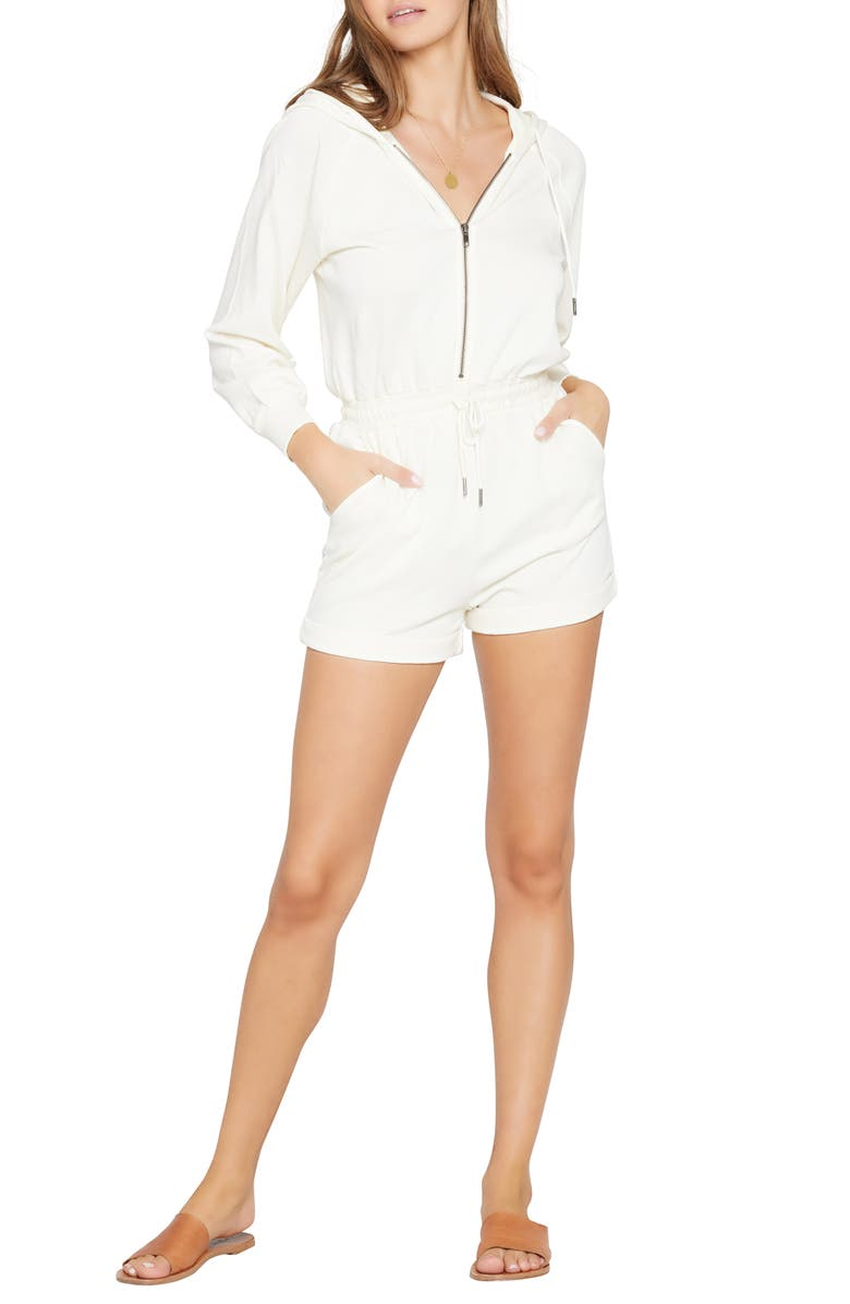 L SPACE Stay Cool Cover-Up Romper, Main, color, CREAM
