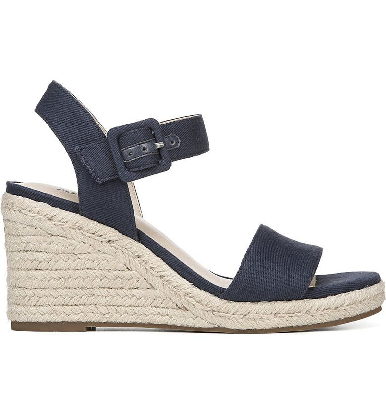 LIFESTRIDE Tango  Espadrille Wedge Sandal - Wide Width Available, Main, color, NAVY