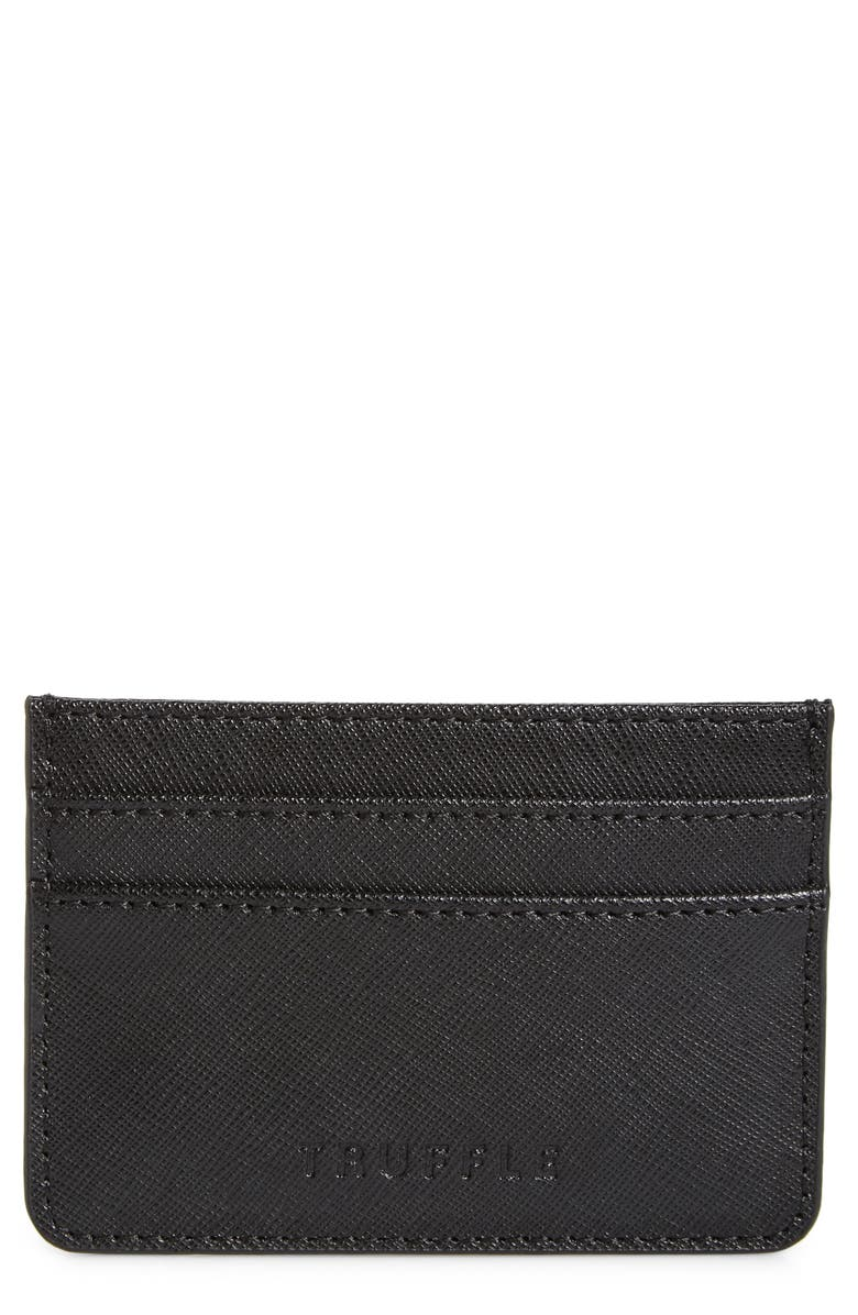 TRUFFLE Privacy Leather Card Case, Main, color, 001